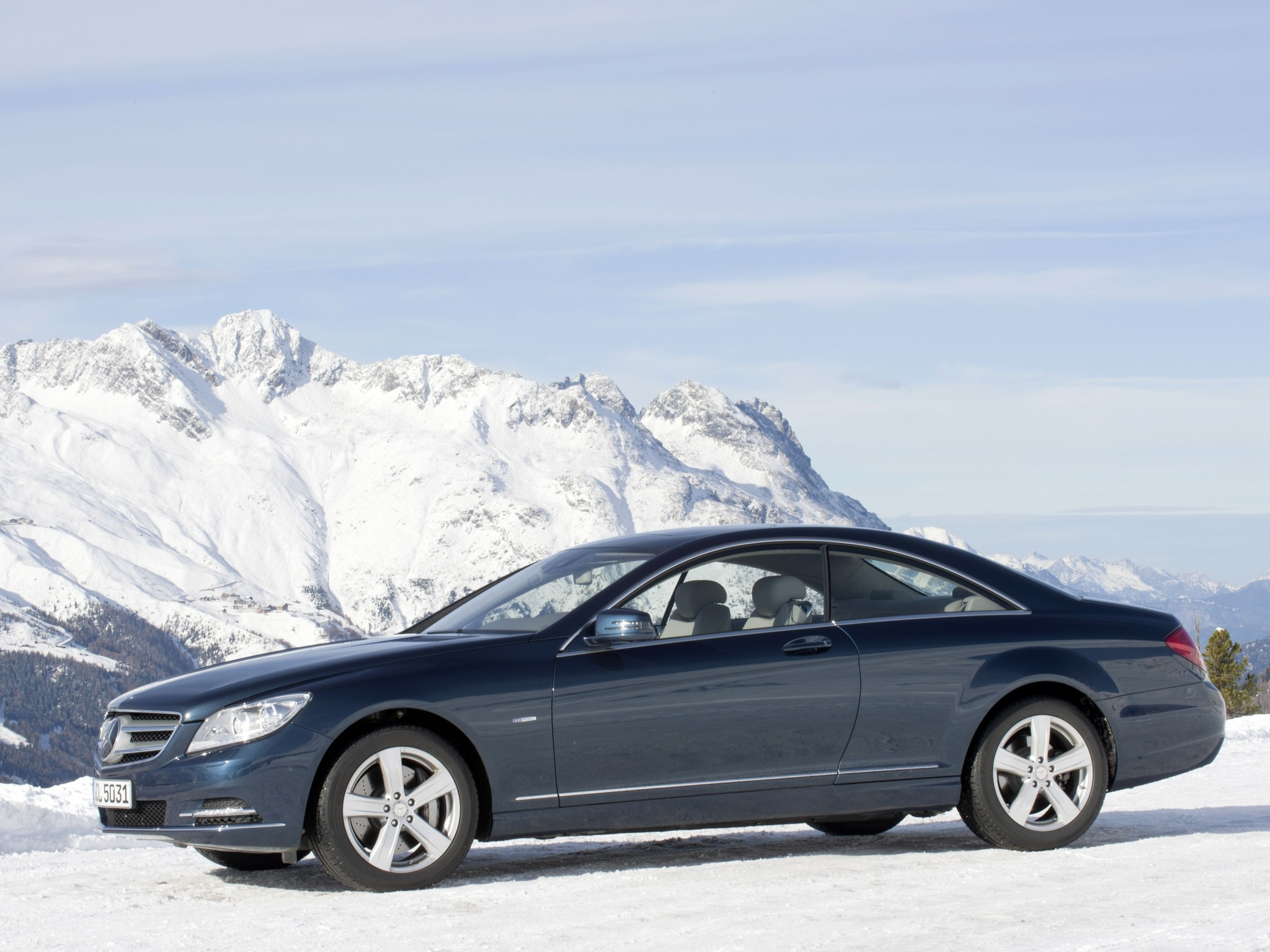 Mercedes On Snow
