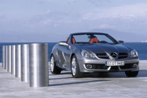 Mercedes Slk 350 Near Ocean Wide