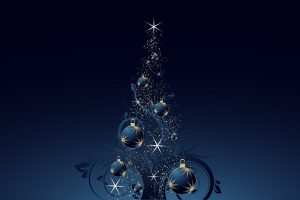 Merry Christmas Amazing Blue Decoration Wide