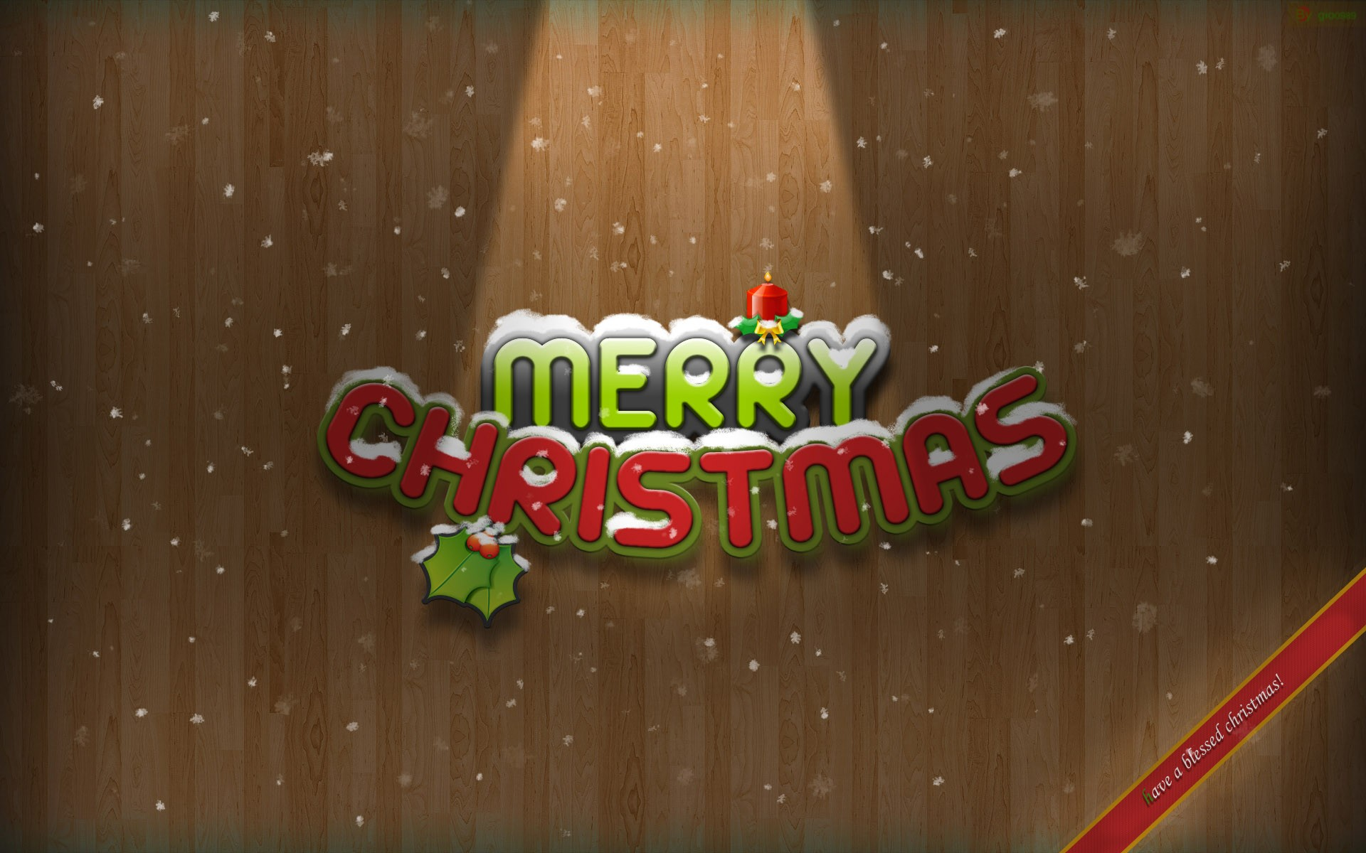 Merry Christmas And Happy Holidays Wide