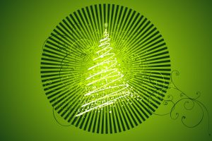 Merry Christmas Elegant Green Wide