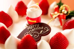 Merry Christmas Strawberry Dessert Wide