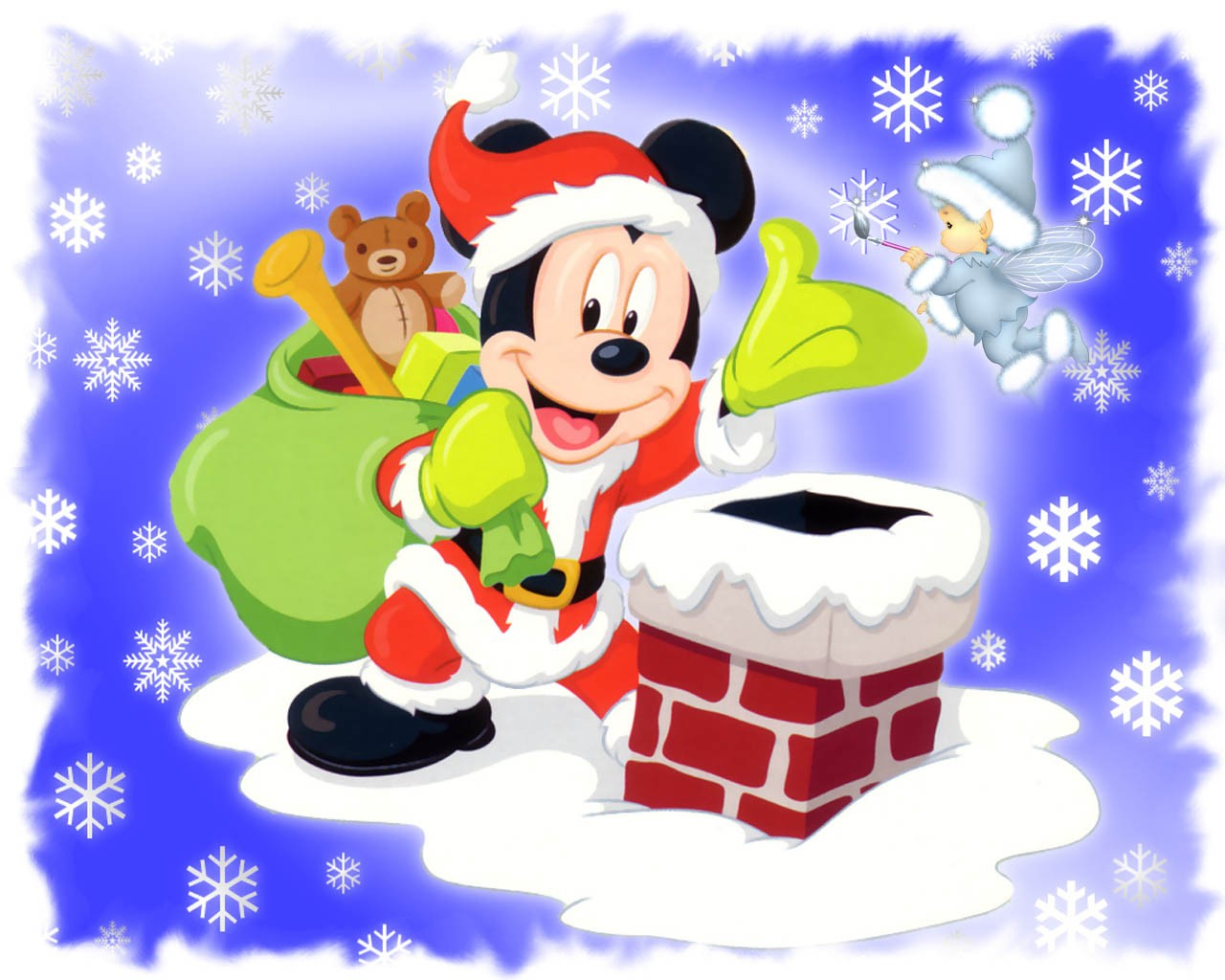 Mickey Mouse Giving Presents