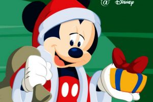 Mickey Mouse Is Santa