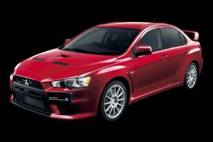Mitsubishi Lancer Evolution Left View Wide