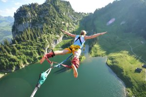 Mountain Bungee Jump Wide
