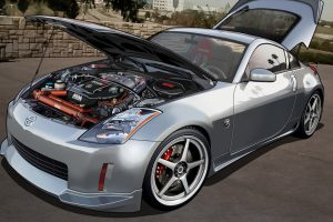 Nissan 350z Hood Up Clean Wide