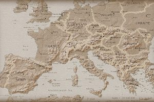 Old Europe Map Wide
