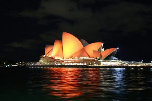 Opera House In Sydney Night