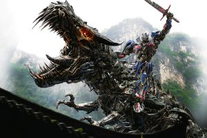 Optimus Prime Dinobot Wide