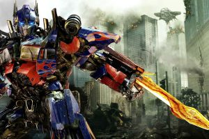 Optimus Prime In A Combat Stance Wide