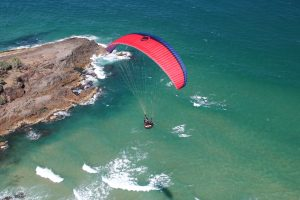 Paragliding Over The Sea