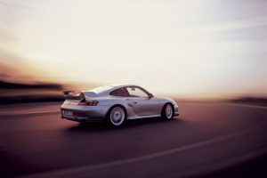 Porsche 911 Gt2 At Sunset