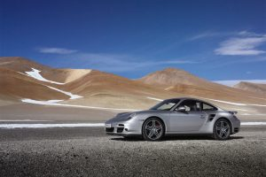 Porsche 911 Turbo Near Desert