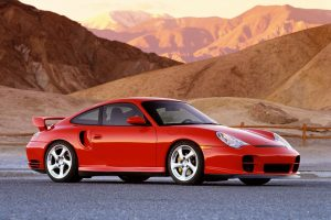 Porsche GT2 Beautiful Red Car In Mountains