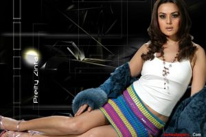 Preity Zinta In Colored Skirt