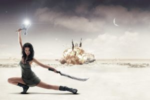 Pretty Girl With Two Swords – Serenity