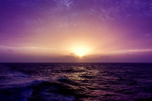 Purple Sea Sunset