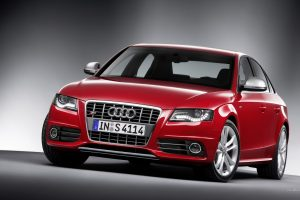 Red Audi S4 Front View