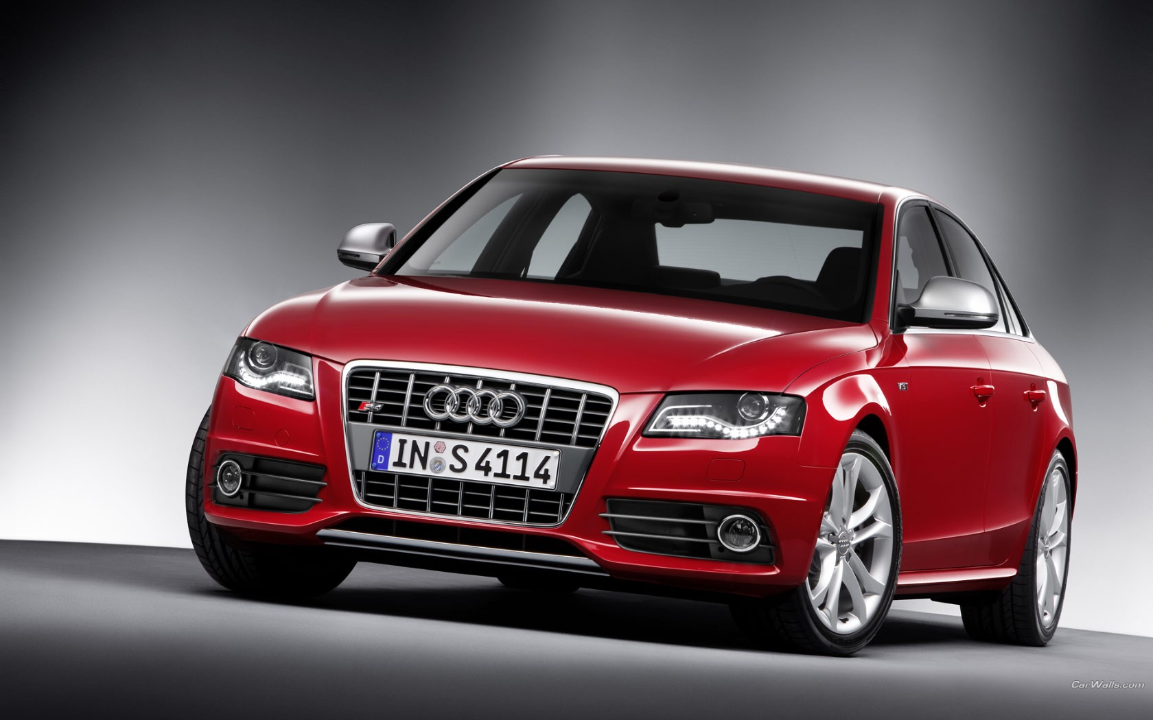 Red Audi S4 Front View Wide
