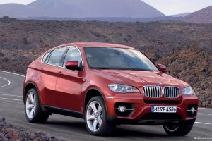 Red Bmw X6 Wide