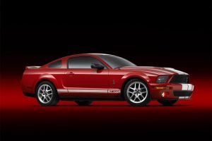 Red Ford Mustang Shelby GT500