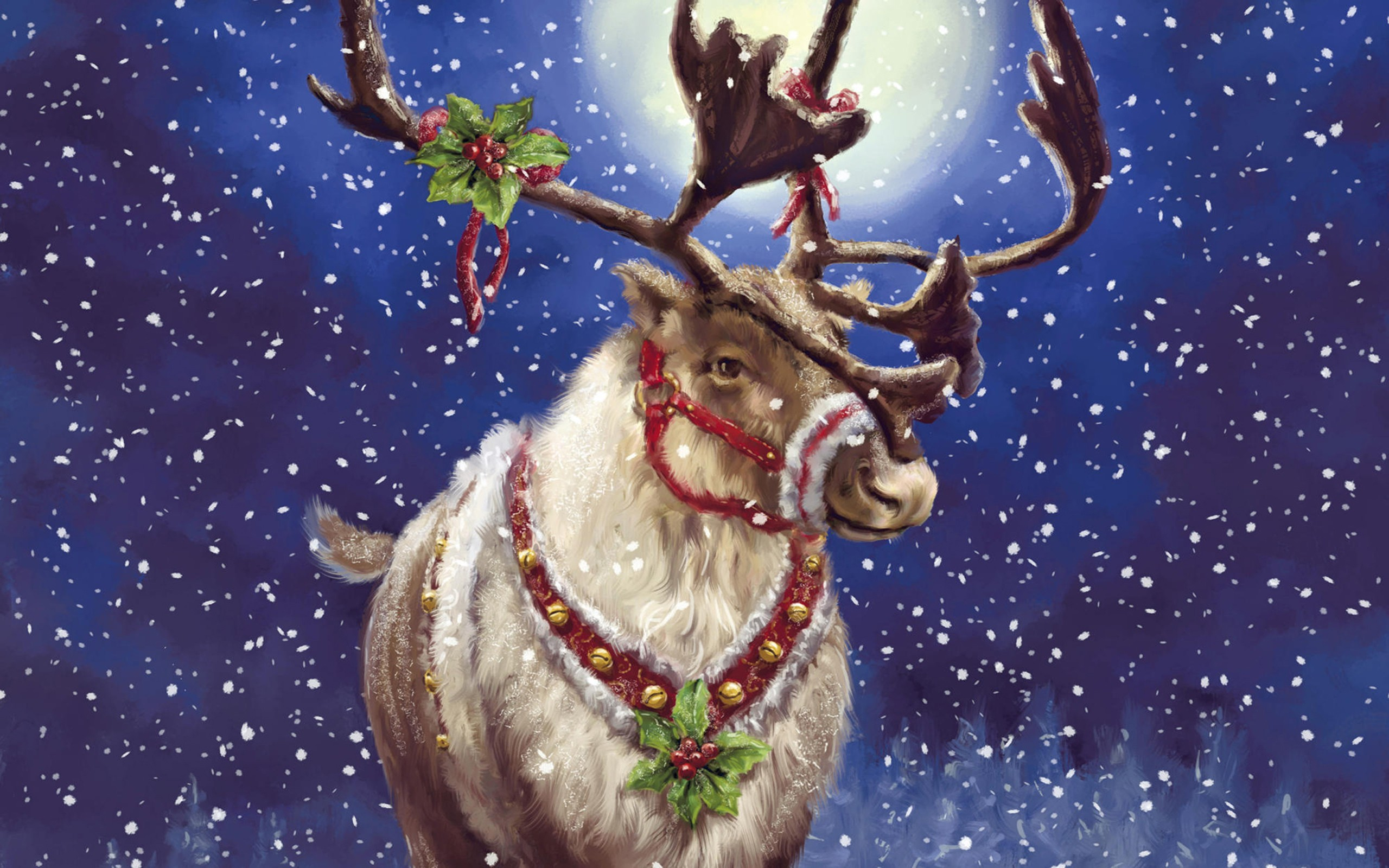 Reindeer Awesome Art Wide