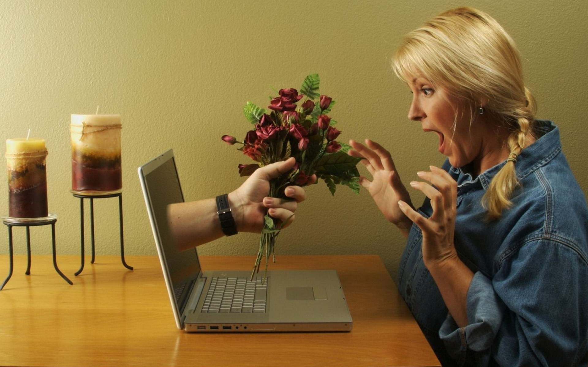 Romantic Use Of Technology Wide