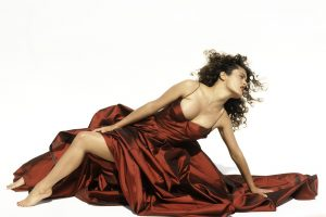 Salma Hayek In Red Dress