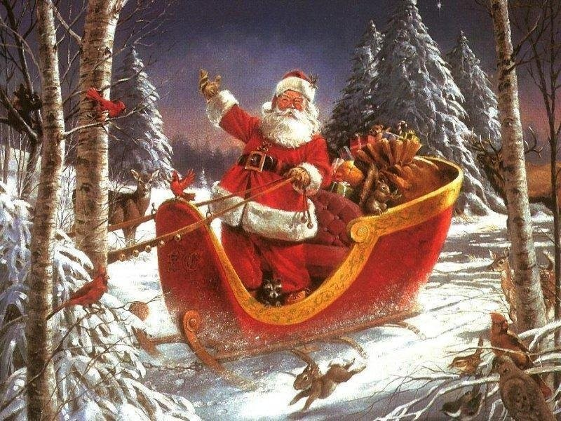 Santa Hurry To Deliver Gifts Postcard