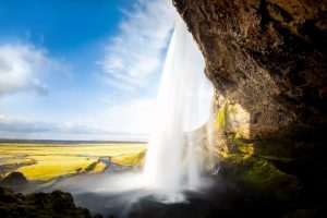 Seljalandsfoss Waterfall Wide