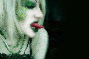 Serpent Kiss Blond Babe With Artistic Make Up