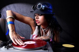 Sexy Girl Dj Mixing Records
