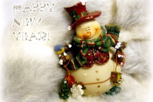 Snow White Happy New Year Postcard