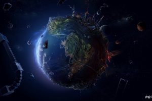Space And Earth Concept Wide
