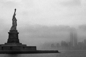 Statue Of Liberty Black And White Wide