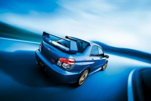 Subaru Impreza Wrx Abstract Blue