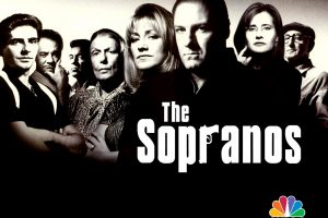 The Sopranos Black And White Poster