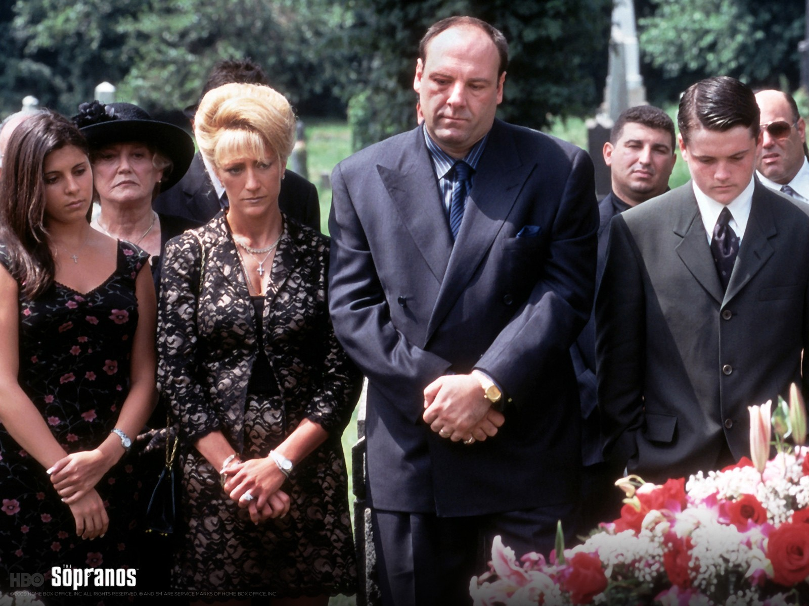Tony Soprano And Carmela Soprano At Funeral