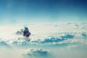 Train On The Clouds Wide