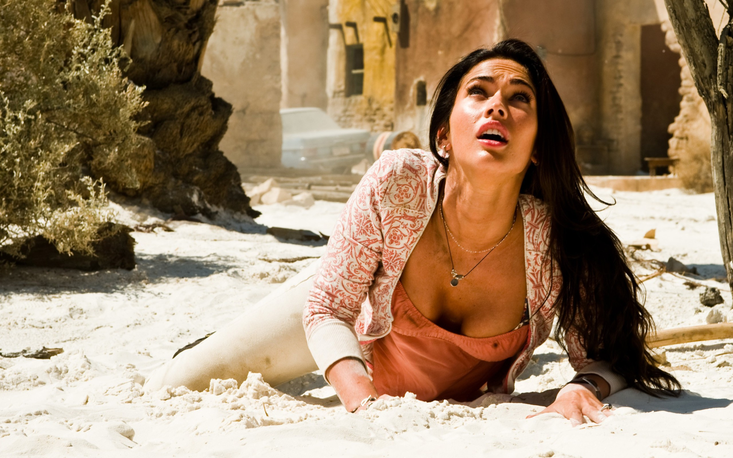 Transformers 2 Megan Fox On The Ground Wide
