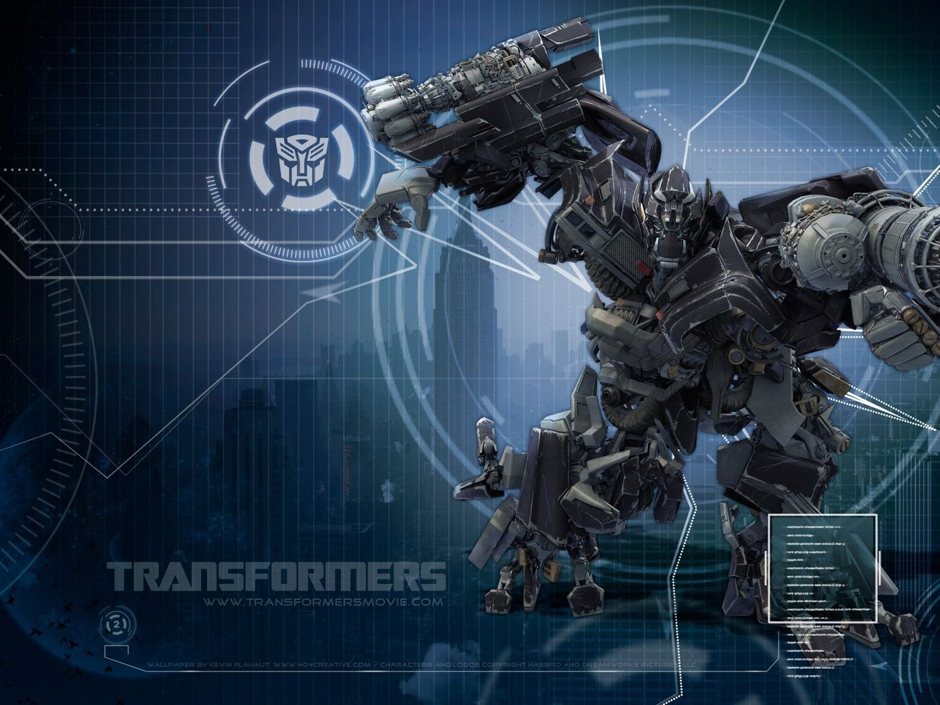 Transformers Blue Background