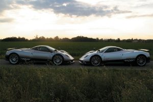 Two Pagani Zonda F On The Road