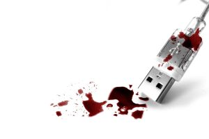 Usb Computer Gadget With Blood Wide