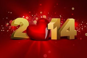 Welcome The New 2014 With Love Wide