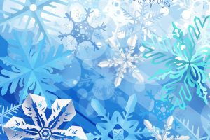 White Blue Postcard