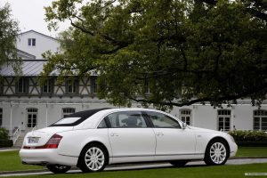 White Maybach Landaulet Wide