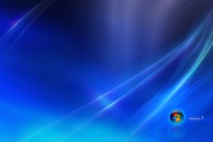 Windows 7 Blue Background Wide
