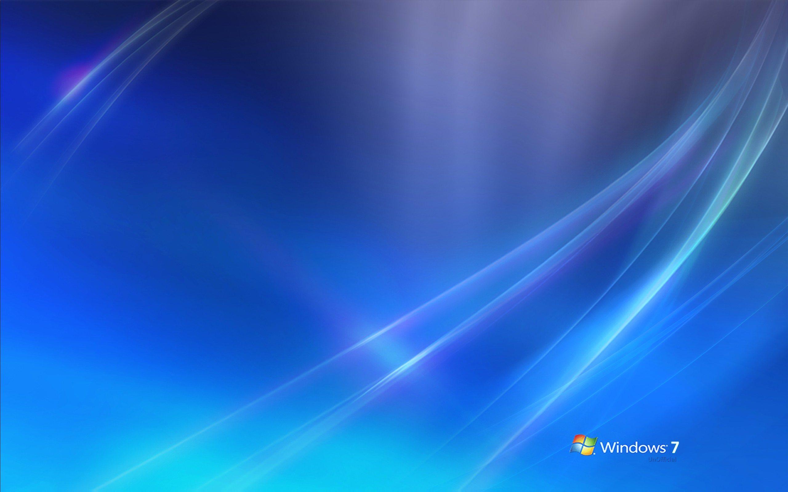 Windows 7 White And Blue Background Wide