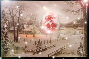 Winter And Santa Postcard